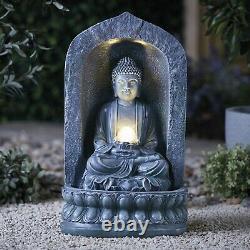 Serenity Garden 60cm Bouddha Caractéristique De L'eau Led Lumière Extérieure Fontaine Décor Nouveau
