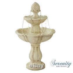 Serenity Garden Water Caractéristique 3 Niveaux Fontaine Fontaine Cascade Bain À Oiseaux Intérieur Extérieur