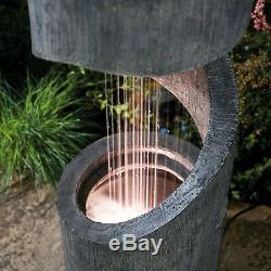 Serenity Spiral Cascade Planter Feature Led Ornement De Fontaine De Jardin De 79cm