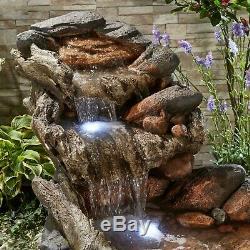 Serenity XL Cascade Stream Water Led 1.47m Ornement De Fontaine De Jardin Nouveau
