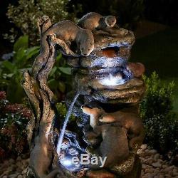 Serenity XL - Ornement De Jardin À Led Autonome 76cm Avec Fontaine D'eau