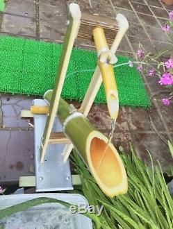 Shishi Odosh Pour Le Jardin Zen Sable Jardin Japonais Bambou Fontaine D'eau Tsukubai