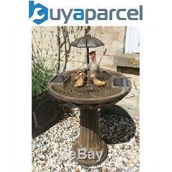 Smart Garden Solaire Famille De Canard Parasol Eau Caractéristiques Fontaine Bird Bath