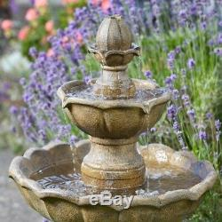 Smart Garden Solar Kingsbury 3 Niveaux De Jardin Fonction De L'eau Fontaine Bain D'oiseau