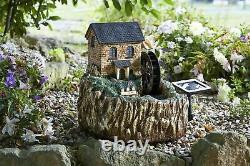 Smart Garden Solar Powered Water MILL Fontaine Caractéristique De L'eau Jardin Patio Led