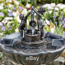 Smart Jardin Solaire Tipping Pail Jardin Aquatique De La Fontaine Bird Bath 1150110