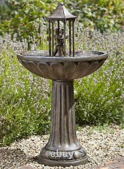Solaire Ornemental Danse Couple Jardin Patio Fontaine Fontaine Décoration