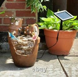 Solar Power Novelty Fairy Water Fountain Feature Jardin Extérieur Elvedon Liliana