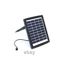 Solar Powered Garden 4 Tier Cascading Bowl Caractéristique De L'eau Led Fontaine Extérieure Uk