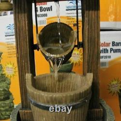 Solar Powered Well Garden Water Feature Fontaine Extérieure