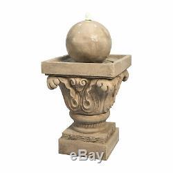 Sold Out Fontaine D'eau Extérieure Peaktop Garden Sphere Avec Lumière Led, Front Lumineux