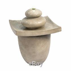 Sold Out Peaktop Garden Waterfall Zen Stone 2 Niveaux Fontaine En Plein Air Avec L