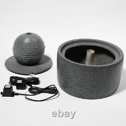 Sphere Water Feature Polyresin Led Lights Modern Water Fountain Garden Wildlife