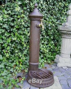 Spigot Eau Avec Bassin De Fontaine En Fonte D'aluminium Jardin Antique Nostalgie Nouveau