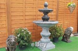 Stone Garden 2 Niveau Regis Extérieur Fontaine D'eau Feature Ornement Jardin