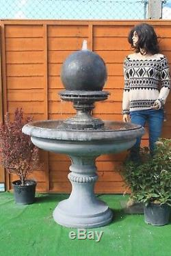 Stone Garden Edwardian Boule D'eau Fontaine Feature Ornement Jardin