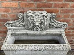 Stone Garden Grand Lion Spout Trough Eau Caractéristiques Fontaine Ornement