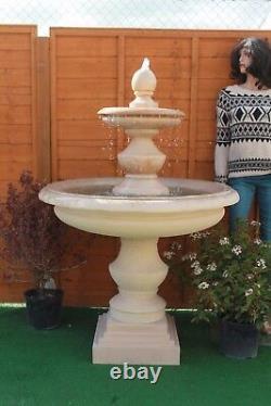 Stone Garden Grande Fontaine D'eau Extérieure Regis Bowled Feature Grès Solaire