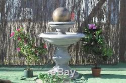 Stone Regis Ball Fontaine D'eau Ornement De Jardin