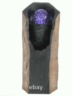 Superbe Fontaine D'eau De Couleur Claire Boule 64cm Haute Ornement Équipement De Jardin