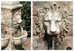 Tête De Lion Extérieur Fontaine D'eau Cascade Cascade Garden Feature