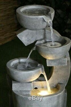 The Oxford Garden Water Feature Fontaine De Qualité En Pierre, Finition Led