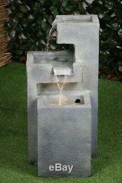 The Tate Garden Feature Fontaine Fontaine Sculpture Moderne Finition Pierre De Qualité Led