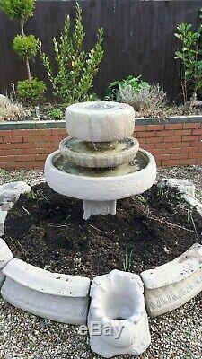 Très Grande 3 Niveaux De Jardin Fontaine D'eau Feature Very Nice! Comprend La Pompe Secteur