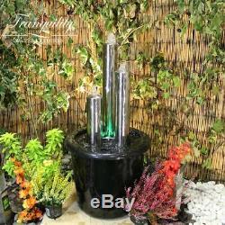 Tube 72cms Moderne En Acier Inoxydable Jardin D'eau Caractéristiques, Fontaine D'extérieur