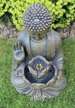 Utilisation Extérieure De Fontaine D'entité De L'eau D'ornement De Jardin De Bouddha A Mené 50cm En Bronze