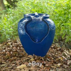 Vendu Peaktop Décor Extérieur Jardin Bleu Led Pompe À Eau Fontaine Fontaine Caractéristique