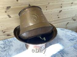 Vintage Français Copper Lavabo Water Tank Bowl Basin Sink Garden Fountain