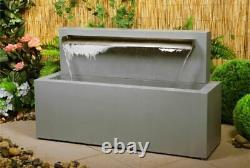 Water Feature Blade Fountain Garden Eau En Acier Inoxydable Caractéristique Jardin Extérieur